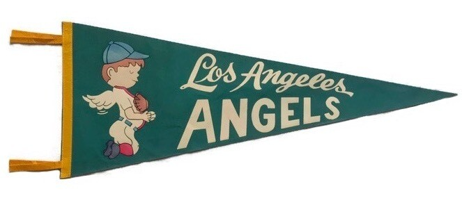 Antique Baseball Pennant - Los Angeles Angels