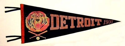 1937 Detroit Tigers Pennant