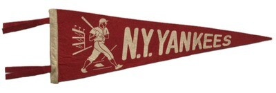 Antique New York Yankees Baseball Pennant