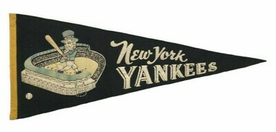 Vintage New York Yankees Baseball Pennant