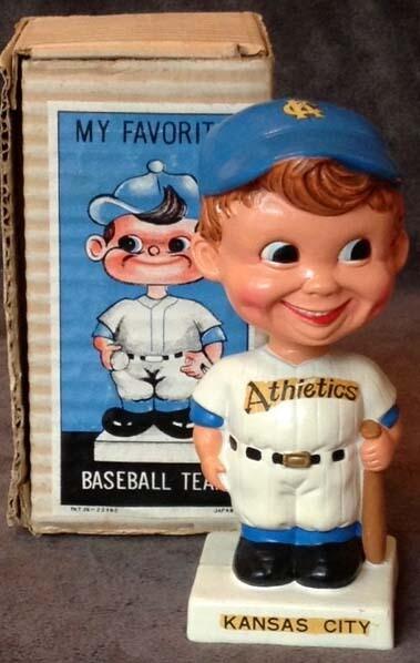 1960's Kansas City Athletics Bobble Head Doll