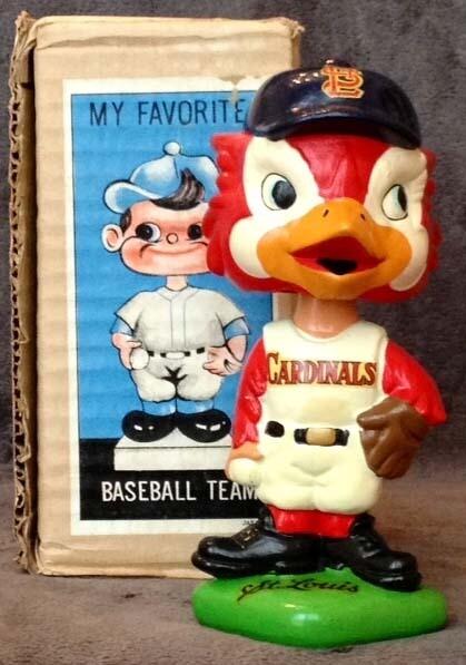 1960's St. Louis Cardinals Green Base Bobble Head Doll
