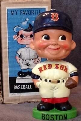 1960's Boston Red Sox Green Base Bobble Head Doll