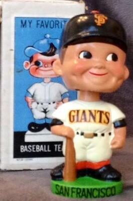1960's San Francisco Giants Green Base Bobble Head Doll