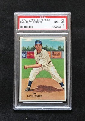 1973 Topps '53 Reprint Hal Newhouser #5 Baseball Card PSA 8
