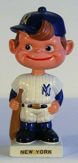 1960's New York Yankees White Base Bobble Head Doll
