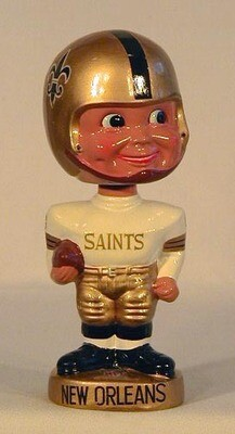 1960's New Orleans Saints Football Bobble Head Doll