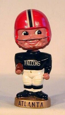 1960's Atlanta Falcons Football Bobble Head Doll