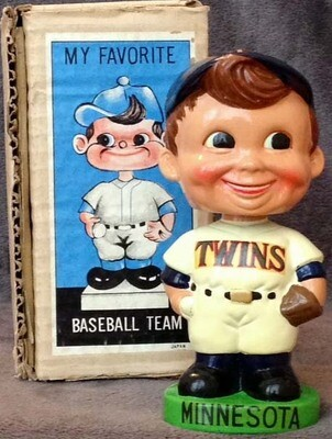 1962 Minnesota Twins Green Base Bobble Head Doll