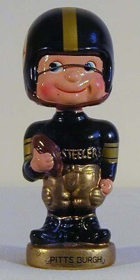 "1961-66 Pittsburgh Steelers ""Toes-Up"" Football Bobble Head Doll"