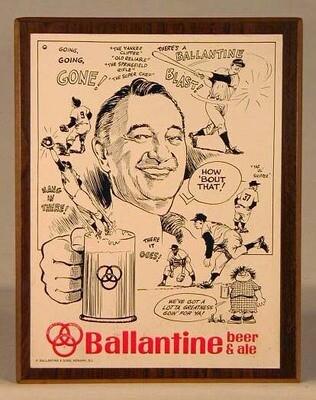1940-50's Mel Allen, New York Yankees Ballantine Beer Sign