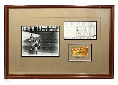 1956 Don Larsen Perfect Game Framed Display