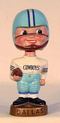 1960's Dallas Cowboys Football Bobble Head Doll
