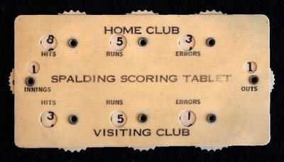Turn of the Century Spalding Baseball Scoring Tablet