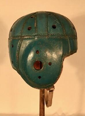 Vintage Leather Football Helmet - 1930
