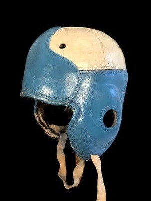1930's Tortoise Shell-Front Football Helmet made by Passon