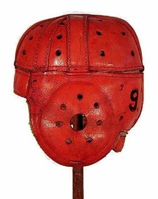 1930's Game Used Clemson University Leather Football Helmet