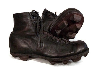 Vintage Football Shoes by KenWel - Stacked Leather Cleats