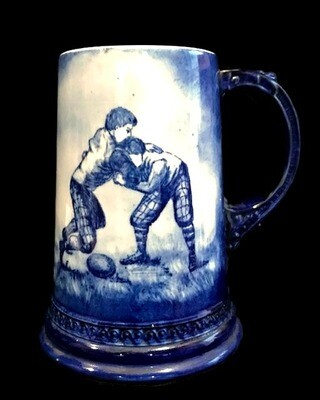 Turn of the Century Football Stein - Scrum