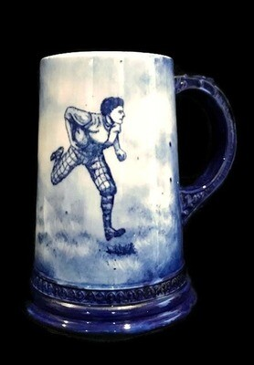 Turn of the Century Football Stein - Ball Carrier