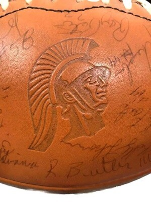 1978-80 USC Trojans signed Wilson Football, Ronnie Lott, Keith Van Horne, Jeff Fisher