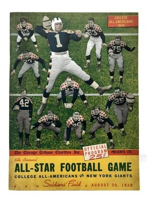 1939 College All Stars Football Program