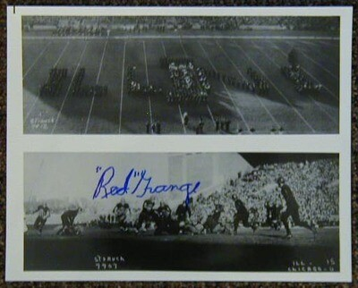 Red Grange Signed Football Photograph