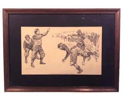 1895 Football Print - The Leading Features of a Liberal Education