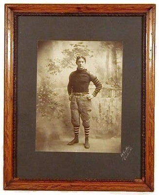 Turn of the Century Large Photo of Vintage Football Player
