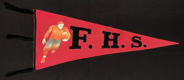 1910's Frankford High School Football Pennant