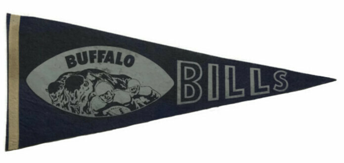 Antique Football Pennant - Buffalo Bills