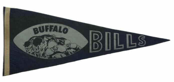 Antique Football Pennant - Buffalo Bills