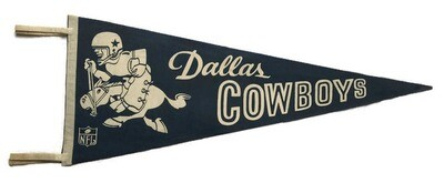 Antique Football Pennant - Dallas Cowboys
