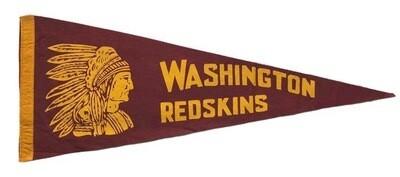 Vintage Football Pennant - Washington Redskins