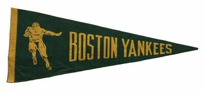 Antique Football Pennant - Boston Yankees
