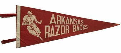 Antique College Football Pennant - Arkansas Razorbacks