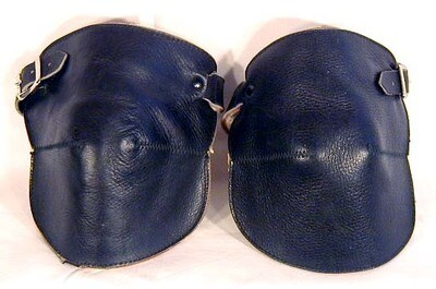 RARE 1920's Black Leather Basketball Knee Pads