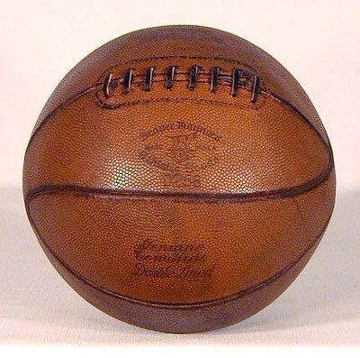 1920's Laced Basketball made by Draper & Maynard
