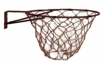 Antique Basketball Rim with Net