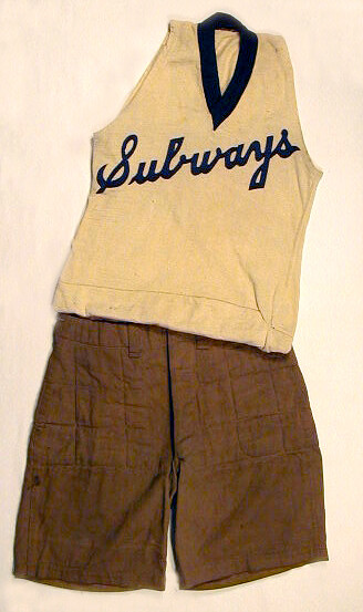 1900-1910's Basketball Uniform with Quilted Shorts