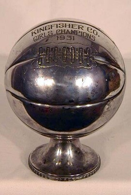 1931 Laced Basketball Trophy