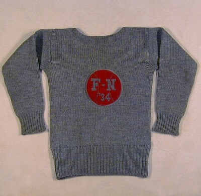 1934 Basketball Sweater - RARE