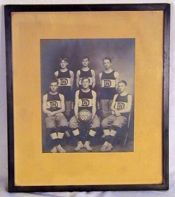 1907 Basketball Team Photograph in Original Frame