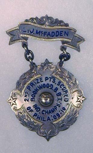 1909-10 Two-Piece Basketball Award Medal