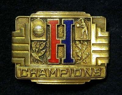 "1920-30's Brass Basketball ""Champions"" Belt Buckle"