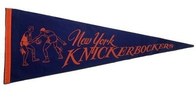 Antique Basketball Pennant - New York Knickerbockers