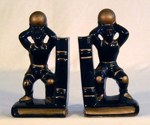 "1930's Art Deco Basketball ""Bookends"""