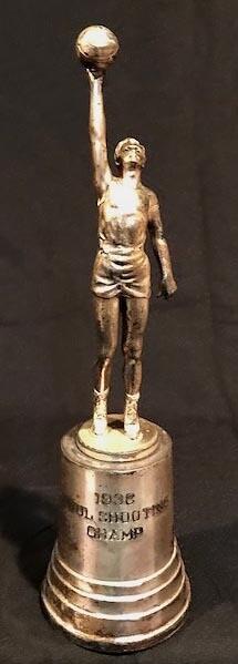 1936 Figural Basketball Trophy
