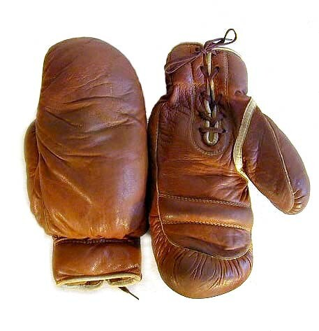 1910-20's High Quality Leather Boxing Gloves