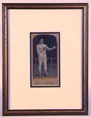 1888 John L. Sullivan Silk Stevengraph